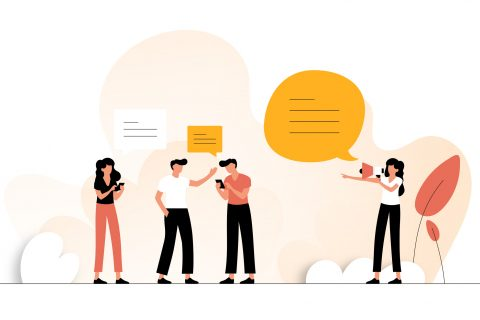Refer Friend Concept Vector Illustration. Flat Modern Design for Web Page, Banner, Presentation etc.